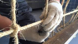 Плетение канатной сетки. Декор. Бар.