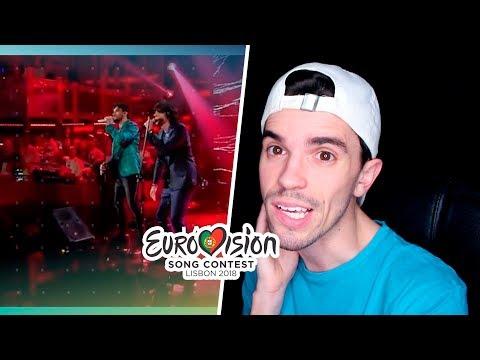 EUROVISION 2018: ITALY Ermal Meta e Fabrizio Moro Non Mi Avete Fatto Niente (REACTION)