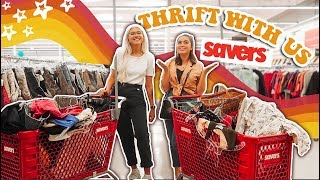 THRIFT WITH US + THRIFT HAUL (v cute home decor + clothes) ♡
