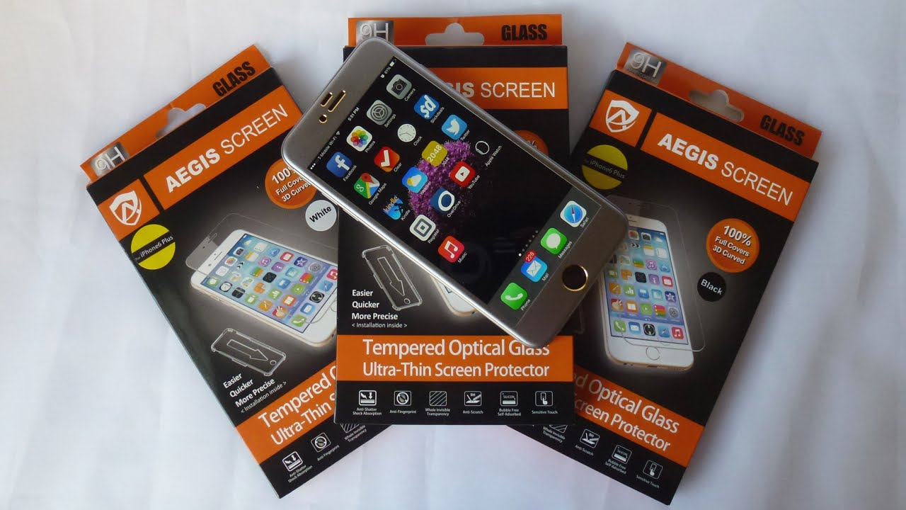 separation shoes 105aa 52751 Aegis 3D Curved Tempered Glass Screen Protector for iPhone 6 Plus ...