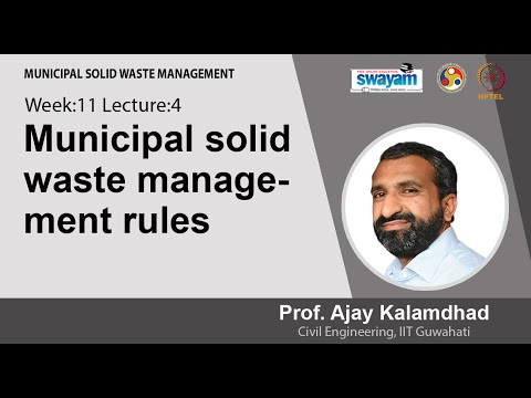 Lec 40: Municipal solid waste management rules