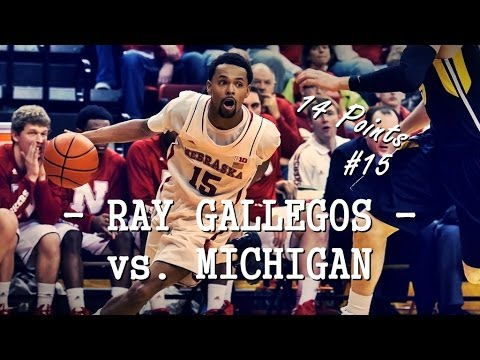 Ray Gallegos vs. Michigan scores 14