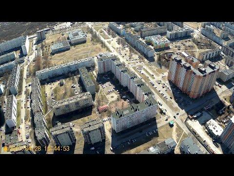 г. Кировск Ленинградской области. Съемка с квадрокоптера.