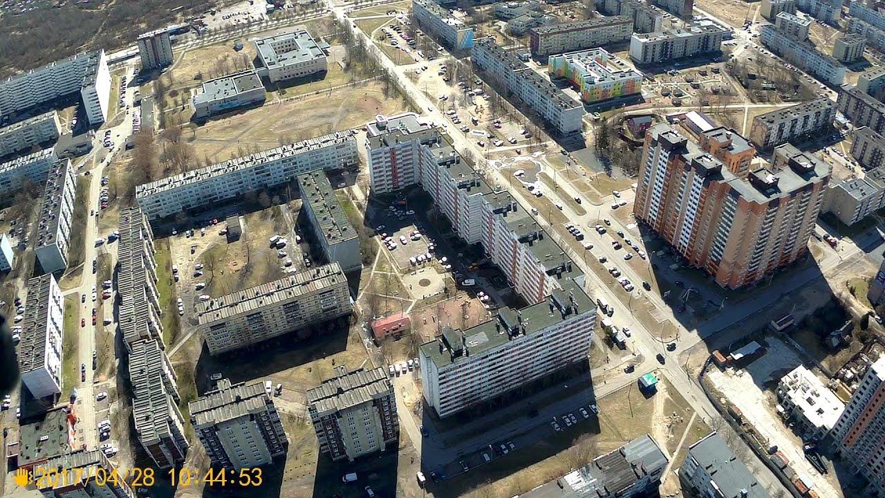 г. Кировск Ленинградской области. Съемка с квадрокоптера ...