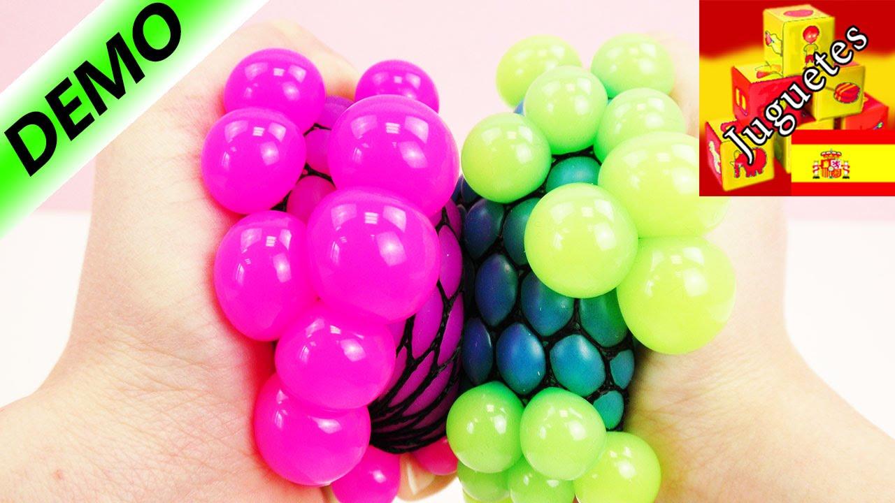 Juguete anti estr s bola de colores youtube for Bola juguete