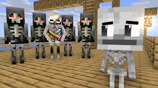 Monster School : Skeleton Life - minecraft animation