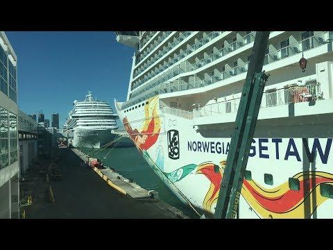 Norwegian Getaway cruise Day 1 - Miami - December 10th, 2017 4K Part 1