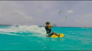 Kite Surfing in Bonaire. Sailing Ocean Fox #73