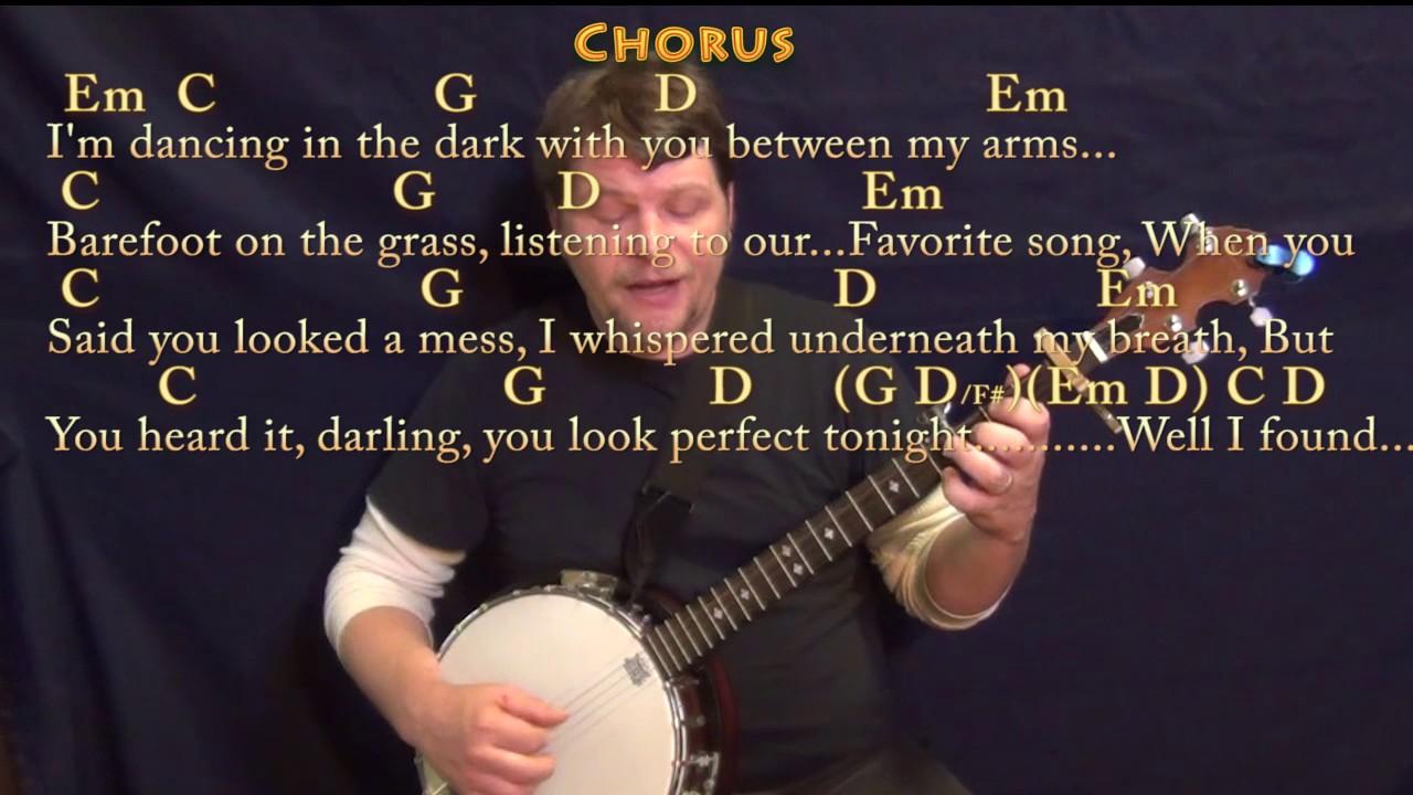 Perfect (Ed Sheeran) Banjo Cover Lesson With Chords/Lyrics