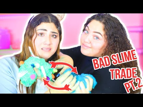 SWAP A SLIME PART 2 | BAD SLIME TRADE CHALLENGE | fix each other slime | Slimeatory #98