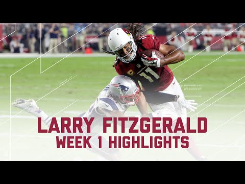 Larry Fitzgerald Highlights | Patriots vs. Cardinals | NFL Week 1 Player Highlights