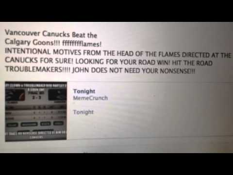 TORTORELLA & FLAMES - JOHN REACTS TO INTENTIONAL MOTIVES DIRECTED AT THE CANUCKS