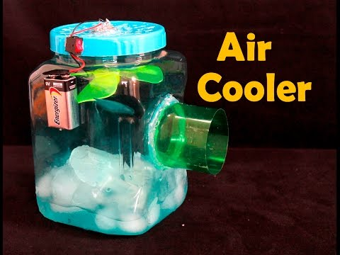 how to make a powerful air cooler using foam box at home doovi. Black Bedroom Furniture Sets. Home Design Ideas