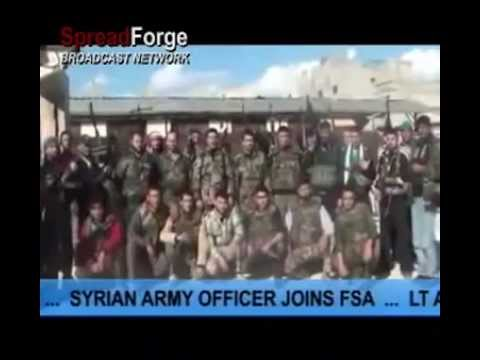 Syrian Army officer defected and joins Free Syrian Army