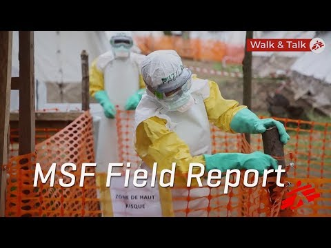 Walking Tour Of MSF's Ebola Treatment Center In DRC