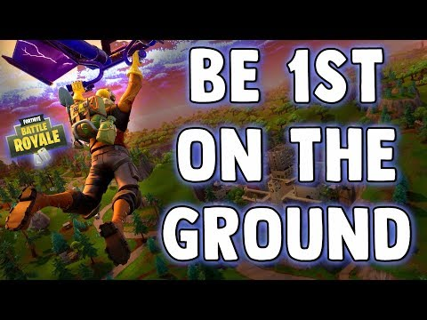 Fortnite HOW TO FALL FASTER & LAND ON GROUND FIRST - Parachute Faster In Fortnite Battle Royale