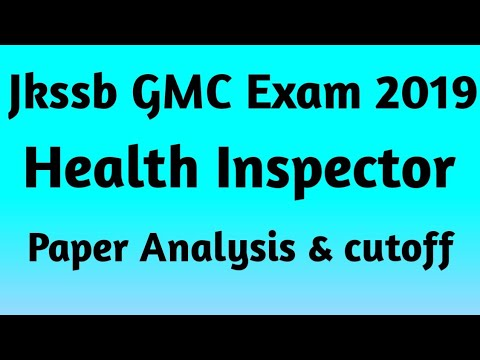 Jkssb Gmc Health Inspector Exam 2019 Paper Analysis Expected