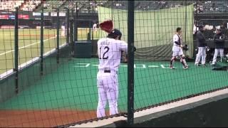 2015年4月12日  郭俊麟 投手 ブルペン & スターティングラインナップ