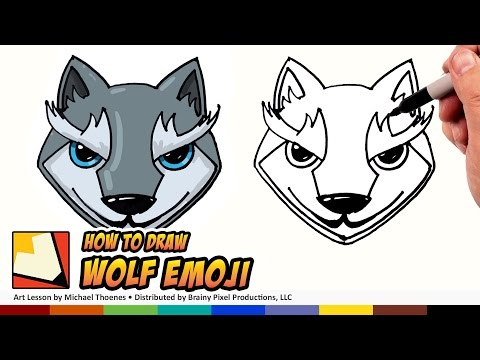 How to Draw Emojis Wolf - Cute Wolf Cartoon for Beginners Step by Step | BP