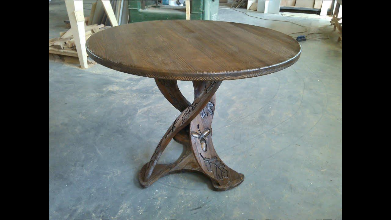 Стол сосновый в беседку, массив, точеный. ( table in the alcove .