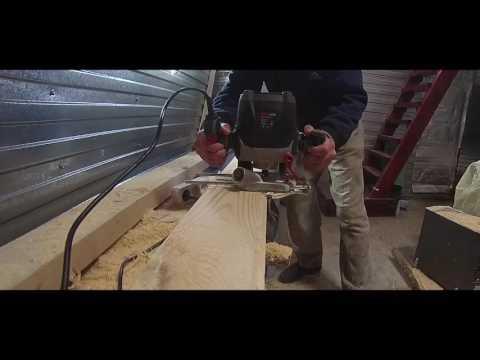 Фрезерование имитация бруса, снятие кромки