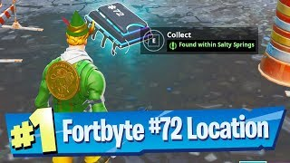 Fortnite Fortbyte #72 Location - Found within Salty Springs