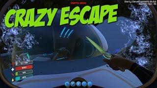 Subnautica: Part 5 - CRAZY DEEP OCEAN ESCAPE!!