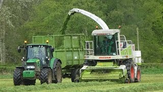 Silage 2018 - Lifting Grass with Claas Jaguar 820 & JD 6430
