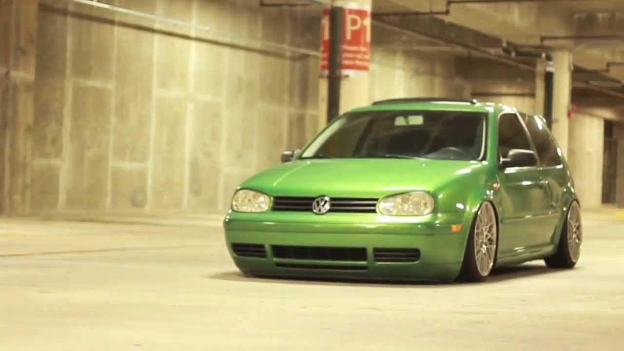 Volkswagen Golf R >> VW Golf Bagged. - YouTube