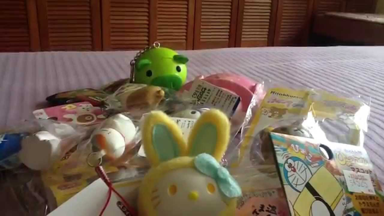 Japan trip haul - (rare squishies and more) - YouTube