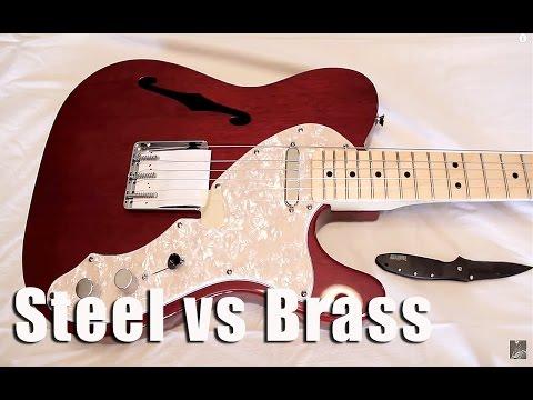 Steel vs Brass Guitar Saddles - Tone Comparison!