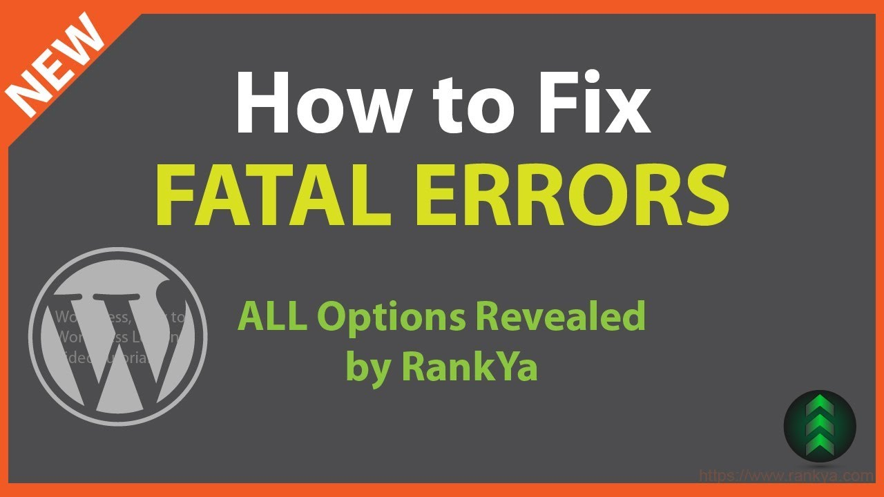 How to Fix Fatal Error WordPress