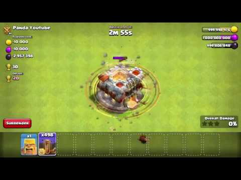 Level 11 Townhall Vs 500 Max Earthquake Spell | COC ...
