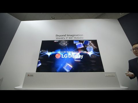 download LG Display rollable OLED TV hands-on