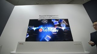 LG Display rollable OLED TV hands-on