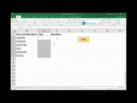 Split Text and Numbers into Separate Columns - Excel VBA