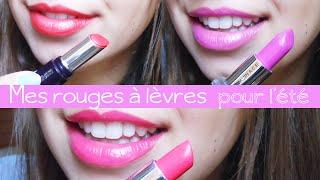 Mes rouges à lèvres de l'été / My summer lipsticks Thumbnail