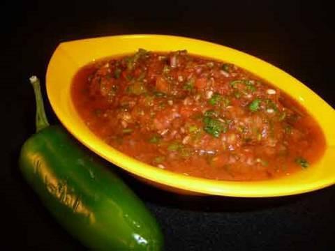 Tomato Salsa Recipe, A Mexican Vegetarian Condiment
