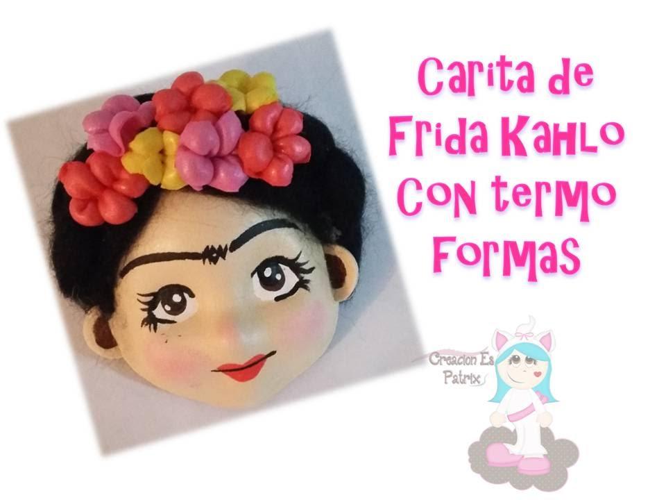 Imagenes De Frida Kahlo Animada Para Colorear: Cómo Hacer Una Carita Tierna De Frida Kahlo En Fomy/ Goma