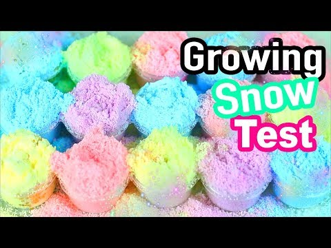 Instagram Growing Snow Test for Cloud Slime