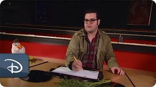 Voice of Olaf - Josh Gad - Learns How-To Draw Olaf | Disney