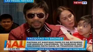 Manny Pacquiao, Team Pacquiao heads to LA after fight