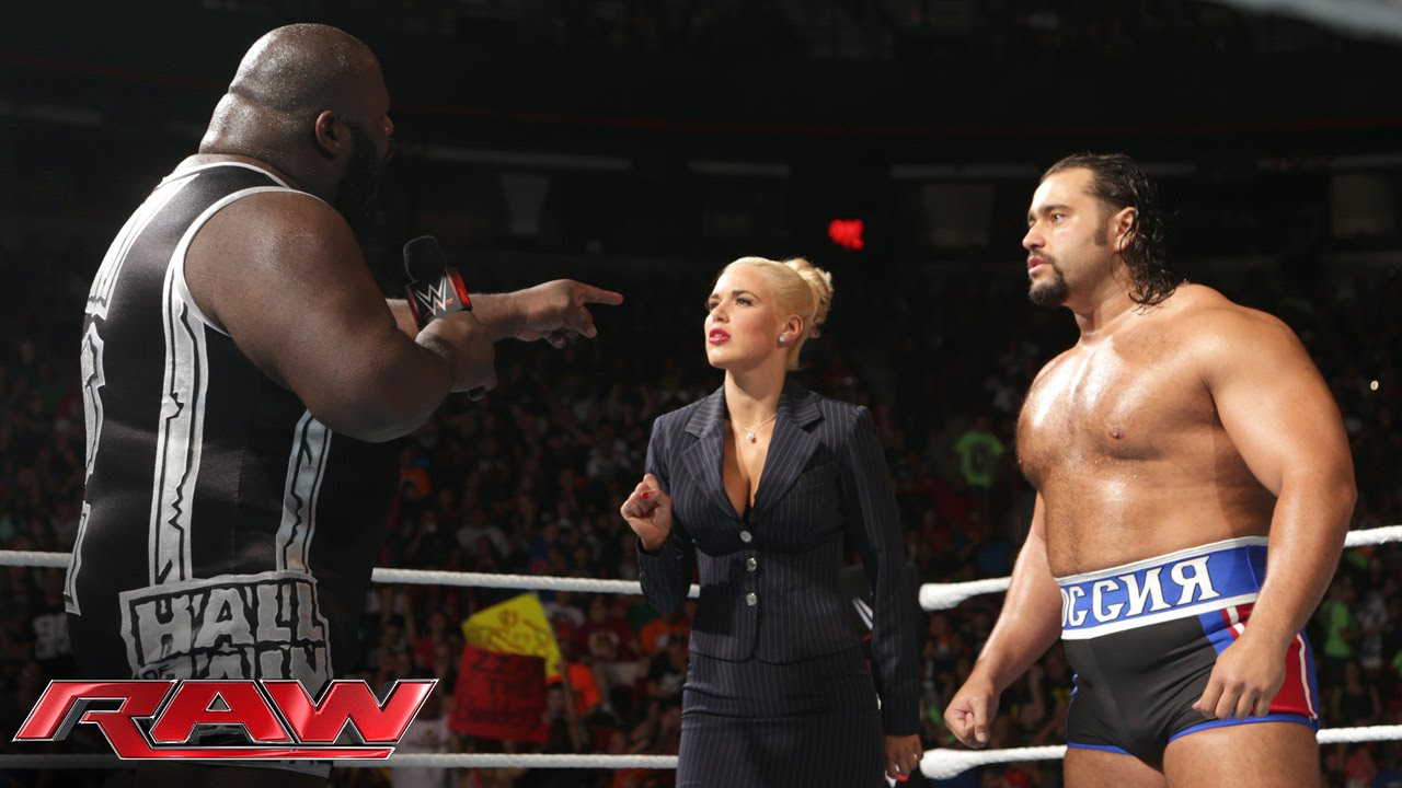 mark henry confronts rusev  raw  aug  18  2014