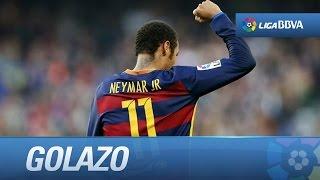Neymar hace magia ante el villarreal, golazo nominado al premio puskas 2016