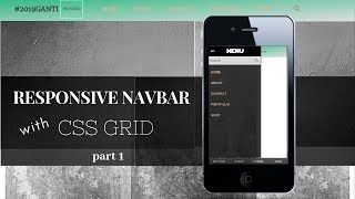 Responsive Navbar HTML and CSS only part 1
