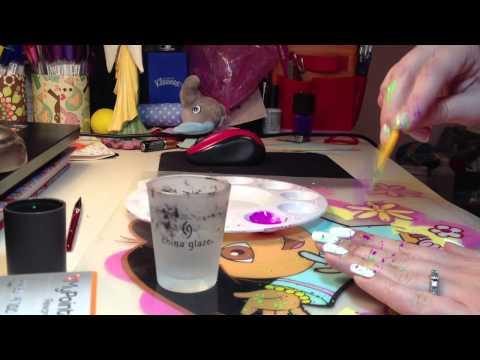 Acrylic Paint Splatter Nails Tutorial