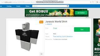 Roblox - How to get Jurassic World Shirt! [READ DESC]