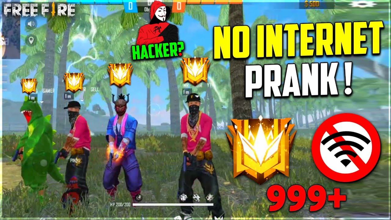 NO INTERNET PRANK IN CLASH SQUAD FUNNY MOMENTS IN FREE FIRE😂- GARENA FREE FIRE
