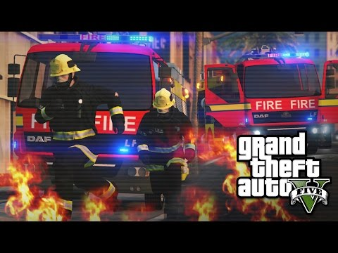 London Fire Brigade RESCUE in GTA 5! - Rescue Mod V #4