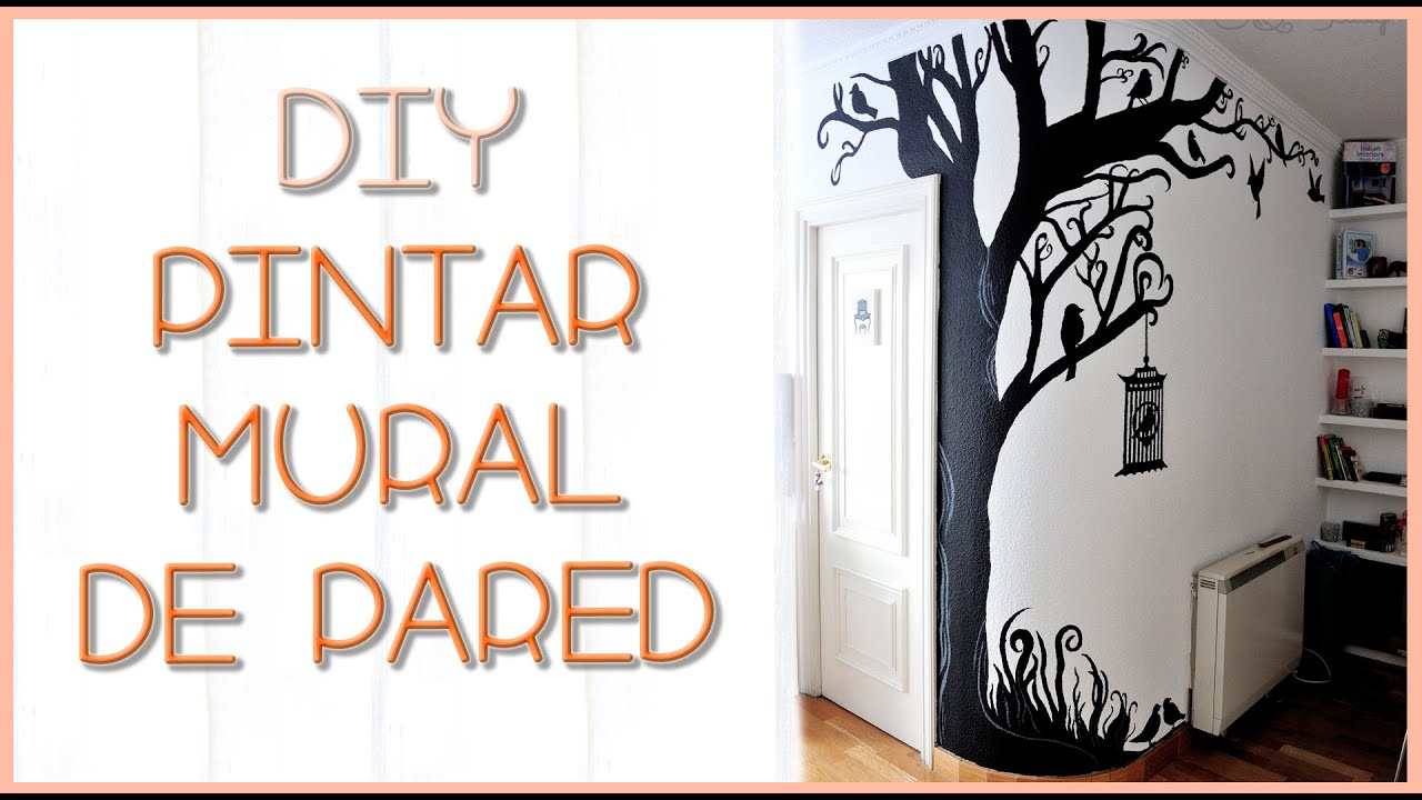 Diy arbol mural de pared silvia quiros youtube for Como pintar un mural en la pared